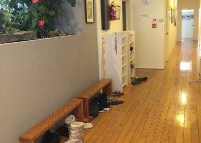 Hall and shoe rack