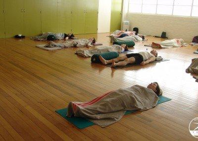 Shavasana in the yoga room
